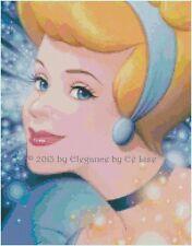 "Disney ""Portrait of Cinderella"" Princess Fantasy Cross Stitch Pattern CD"