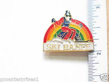 Banff Norquay Sunshine Ski Louise Skiing Pin Canada Ski  (Post back) (ski #104)