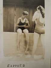 ANTIQUE AMERICAN BEAUTY DOT ROGERS SWEET 16 TEEN EXPOSED BOX CAMERA BEACH PHOTOS