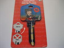 """Betty Boop """"Biker Betty"""" Key Kwikset KW1 House Key Blank / New"""