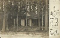 Contoocook NH Cabin in Woods c1910 Real Photo Postcard