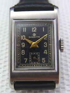 schöne Armbanduhr Tutima Glashütte 30er Jahre Edelstahl selten!!