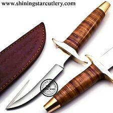 Custom Hand Made 3/8x9 D2 Tool Steel Hunting Knife W/Sheath