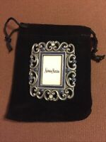 "Jay Strongwater Miniature Jeweled Frame 2 1/4""x2"" Black Velvet Drawstring Bag"