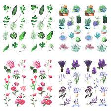 Blumen Sticker Pflanzen Aufkleber Vintage Deko Scrapbooking Basteln - wählbar