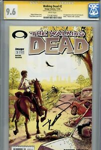 Walking Dead 2 CGC 9.6 SS 1st print Robert Kirkman Tony Moore AMC Zombies 1 3 WP