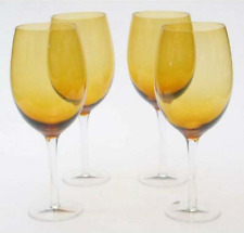 Certified International Dark Amber 20-oz White Wine Glasses