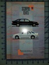 1989 Ford Merkur XR4Ti Scorpio Brochure
