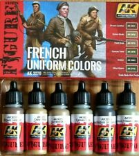 AK Interactive French Uniform Colours Acrylic Paint Set For Models