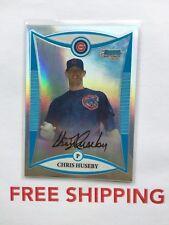 2008 Bowman Chrome RC Refractor Serial #D /500 Card #BCP192 Chris Huseby Cubs
