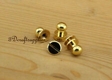 10mm x 13mm screwed studs Round Head Nail Rivet 10 sets Alloying golden P111A