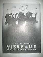 PUBLICITE DE PRESSE VISSEAUX LAMPES ECLAIRAGE LUMIERE ILLUSTRATION ANDREY 1933