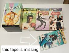 Elvis Presley Commemorative Collection - 3 of 4 VHS Tapes (1 sealed) w/ Slipcase