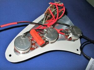 Electric Guitar Stratocaster Quality Pre-Wired Controls for Pickguard +Jack Plug