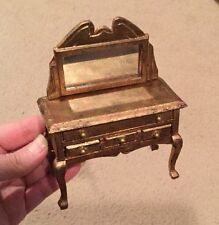 Hand Painted Faux Gilded Vanity - Vintage Dollhouse Miniature Furniture
