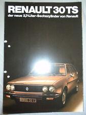 Renault 30 TS brochure c1980's German text