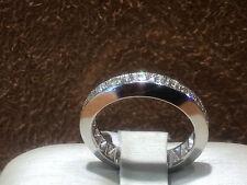 14K White Gold  Diamonds Eternity Band  size 6