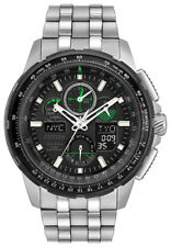 Citizen Eco-Drive Men's Skyhawk A-T Black Dial Silver-Tone 47mm Watch JY8051-59E