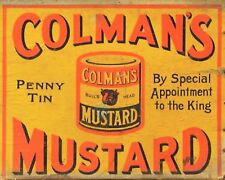 "10 x 8"" COLEMAN'S MUSTARD VINTAGE ADVERT METAL PLAQUE TIN SIGN OTHERS LISTED 629"