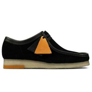 NEW IN BOX! MENS CLARKS Wallabee Black Combi LOW TOP CASUAL 26157369 SIZE 7.5-13