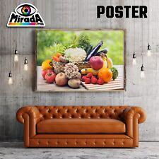 Carteles Frutas Verduras Cocina Temporada Naturaleza Papel FOTOGRAFICA35x50