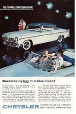 1950s Vintage print ad Car Chysler Windsor Deluxe V-8 America Smartly Different