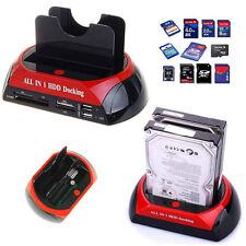 LETTORE ESTERNO HARD DISK SATA IDE 2,5 3,5 HD LED OTB SCHEDE SD USB + CAVO USB