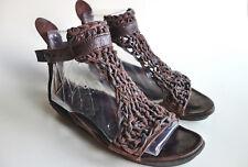 TRIPPEN Germany - Women's Leather PENNA Sandals KNIT f espresso EU37 US6-6.5 UK4