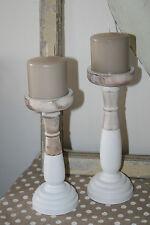 Markenlose Deko-Kerzenständer aus Holz für Stumpenkerzen