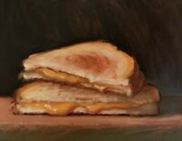 """""""Grilled Cheese"""" NOAH VERRIER Still life oil painting, Signed art print"""