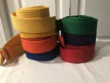 Lot of 7 Martial Arts Karate Belts -Good condition