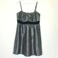 City Chic Womens Silver/Black Sleeveless Lined Dress with Back Zipper Size M