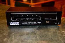 SPECO Stereo Speaker Selector SSB-5