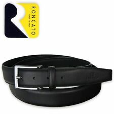 Roncato Belt Belt Man Black 100% Real Leather Made IN Italy XXL 200 CM