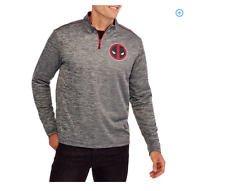 Marvel Deadpool 1/4 Zip Up Hoodie NWT FREE SHIPPING
