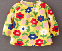 Baby Boden Years 2/3 Girls Yellow Flower Hopscotch Jersey Top T-Shirt