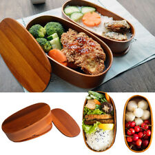 Vintage Japanese Wooden Lunch Box Wood Bento Box Double Layer Food Container