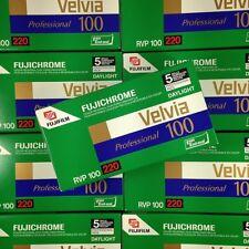 Pellicule Périmée 220 - Pack 5 Fuji Velvia 100 - Couleur Diapo - Péremption 2008