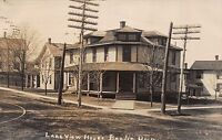Real Photo Postcard Lakeview House in Berlin Heights, Ohio~110960