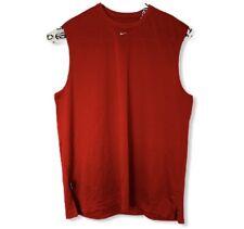 Nike Mens Sz Xl Red Mesh Basketball Tank Top Center Swoosh Logo Travis Scott