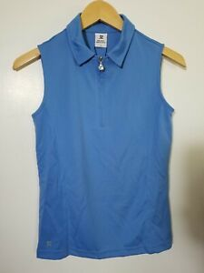 1 NWT DAILY SPORTS WOMEN'S S/L POLO, SIZE: SMALL, COLOR: BLUE (J168)