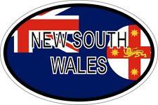 Autocollant sticker ovale oval drapeau code pays australie nouvelle galle du sud