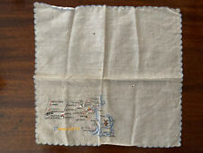 Vintage Ladies Cotton Handkerchief - Massachusetts