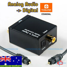 Analogue Audio Input to Digital Toslink / Coaxial Out Converter + Toslink Cable
