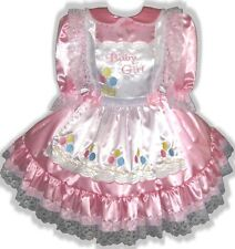 """Monisha"" CUSTOM FIT Adult BABY GIRL Sissy Dress & Pinafore LEANNE"