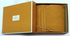 EBEL WATCH POUCH BROWN SUEDE STYLE IN OUTER BOX, MINT CONDITION