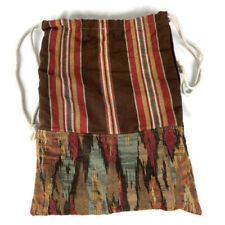 Tapestry Backpack Drawstring Red Brown Heavyweight Boho