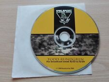 TODD RUNDGREN – ''KING BISCUIT FLOWER HOUR''- PROMO CD RADIO SHOW.