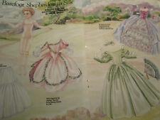 Vtg 1989 Brigitte Deval Barefoot Shepherdess In Silk Magazine Paper Doll Uncut