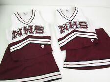 "2 Real High School Cheerleader Uniform /s NHS Cheer Outfits 34""Top 26 Skirt Lot"